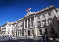 town hall government building at sant jaume square barcelona spain