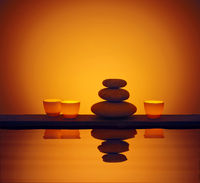 Stones Candle Water