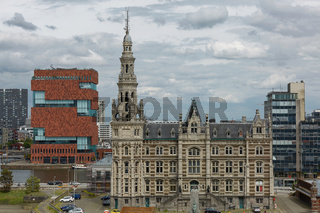 View of traditional architecture in Antwerp in Belgium.
