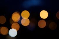 Night city street lights bokeh as background