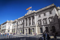 Catalan Generalitat government building at sant jaume square barcelona spain