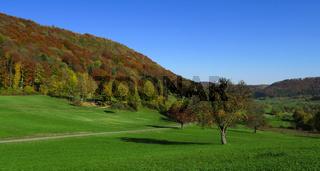 Herbstlandschaft auf der Schwaebischen Alb