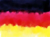fahne deutschland - abstrakte gemalte illustration