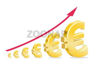 Euro Stock Investment Golden Symbol