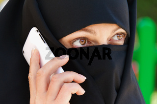 Symbolfoto Islam. Muslim veiled woman