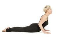 Yoga woman black_Bhujangasana high