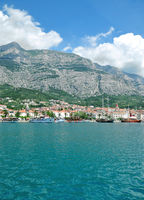 Makarska Stadt an der Makarska Riviera,Adria,Dalmatien,Kroatien