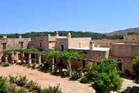 Arkadi Monastery courtyard
