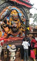 Hinduistischer Gott Kala Bhairav, Kathmandu, Nepal