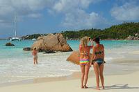 Traumstrand Latio Beach auf Praslin Seychellen