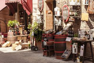 Weingeschäft in Montepulciano, Toskana, Italien