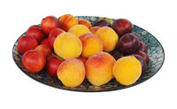Paua Inlaid Dish wuth Plums, Peaches and Nectarines