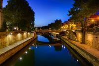Seine River at midnight