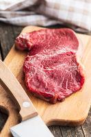 Fresh raw beef meat.
