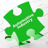 Industry concept: Automotive Industry on puzzle background