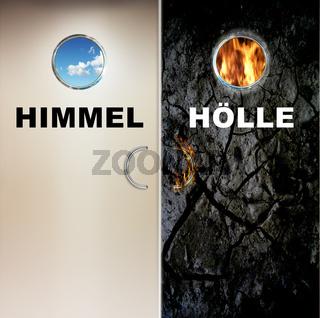 Zwei Türen zum Himmel und in die Hölle