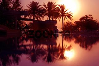 Sunrise on tropical beach