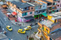 Castilla district Medellin aerial view crossing