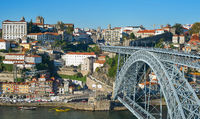 Panorama Old Town Porto Portugal