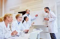 Ärzteteam freut sich über Präsentation