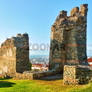 Ruins of ancient walls in Thessaloniki