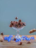 Chocolate cake stand