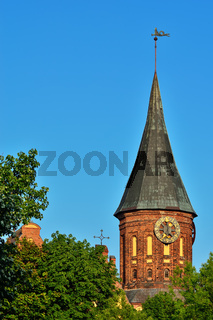 Turm Königsberg Kathedrale. Symbol von Kaliningrad, Russland