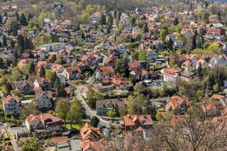 Häuser in der Stadt Wernigerode im Harz