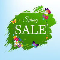 Sale Banner With Flower