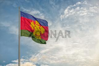 Flag of Russian Krasnodar region