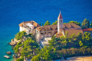 Bol church and monastery on Brac coast