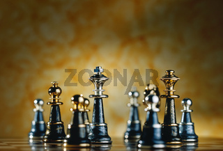 Metallic Chess Pieces