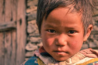 Sad eyes in Nepal