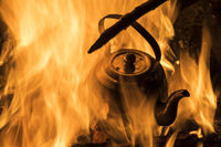 Wasserkessel im Feuer, Lappland