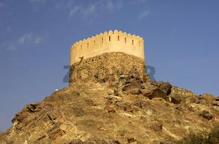 Minarett der Al Bidyah Moschee, Fujairah, VAE