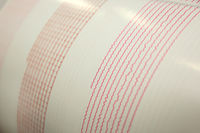 Seismological activity live on the sheet of measuring paper