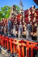 Gifts at Fushimi Inari Taisha, Kyoto, Japan