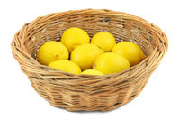 lemons in basket