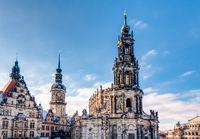 Hofkirche und Hausmannsturm in Dresden
