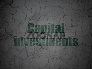 Banking concept: Capital Investments on grunge wall background