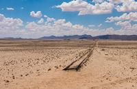Abandoned railway tracks in the desert, Namibia
