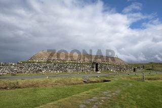 Traditionell gebautes Blackhouse, Isle of Lewis