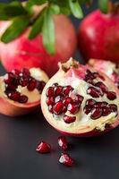 Closeup of pomegranate fruit
