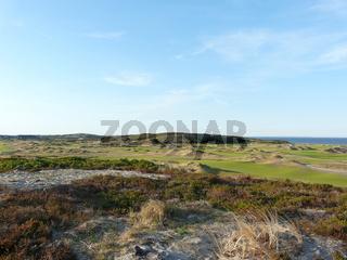 Golfplatz Budersand in Hörnum auf Sylt, historische Aufnahme