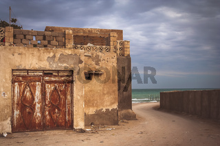 Old large rusted home gates  in Queshm itown