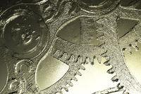 Digital 3D Illustration of a Clockwork