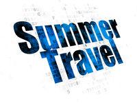 Tourism concept: Summer Travel on Digital background