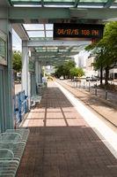 Northbound Red Line McGowen Street Metro Transit Train Platform Houston