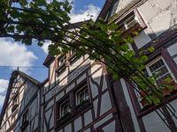 Fachwerkhäuser mit Weinreben in Bernkastel-Kues