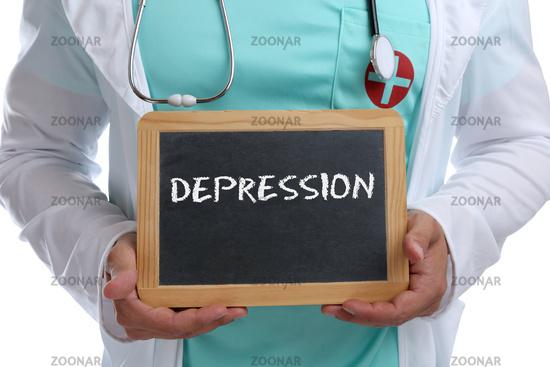 Depression Burnout depressiv krank Krankheit gesund Gesundheit junger Arzt Doktor